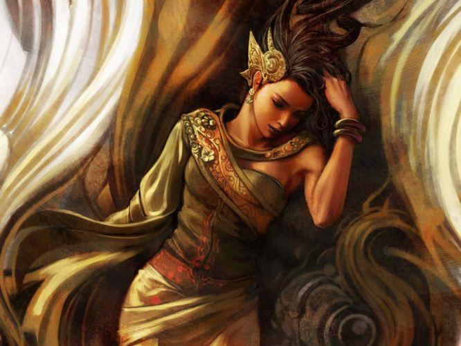 women fantasy mythical wallpaper