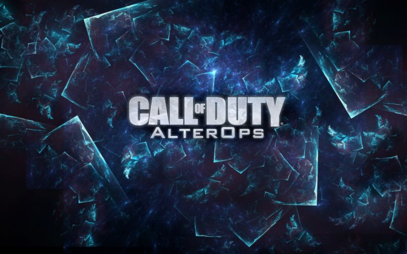 video games blue multicolor glass AlterIWnet alterOps Call of Duty: Black Ops wallpaper