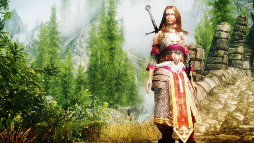video games Skyrim Elder Scrolls V scales wallpaper