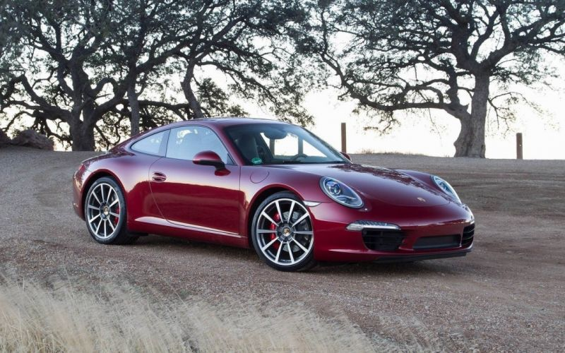 trees red Germany turbo wheels sports cars roadster Porsche 911 Porsche 911 Carrera Porsche 911 Carrera S wallpaper