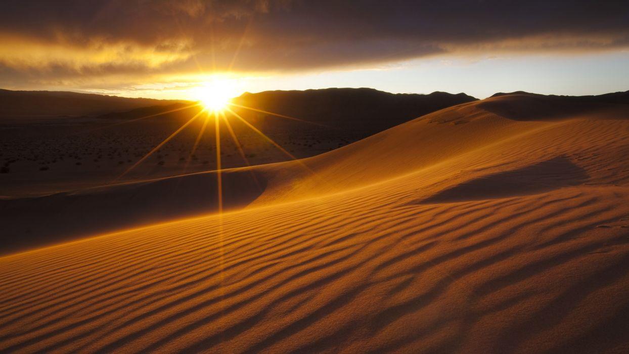 California sunlight Death Valley National Park wallpaper