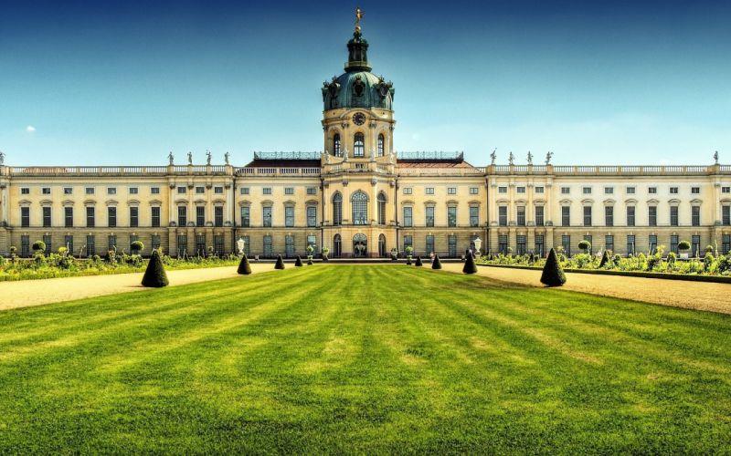 castles cityscapes Berlin Charlottenburg palace wallpaper
