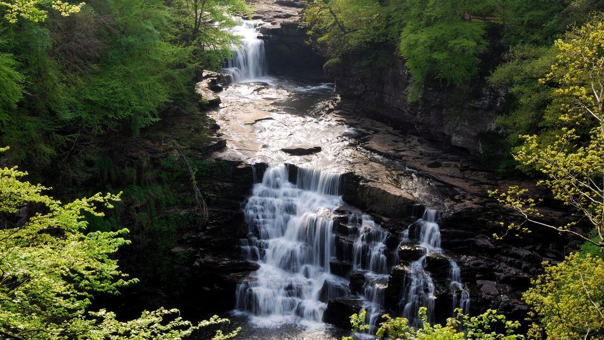 landscapes waterfalls rivers wallpaper