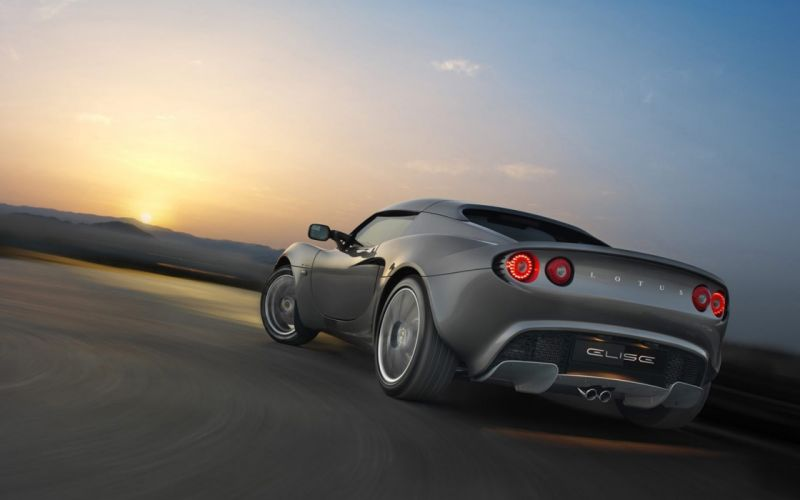sunset cars roads Lotus Elise sports cars gray cars wallpaper