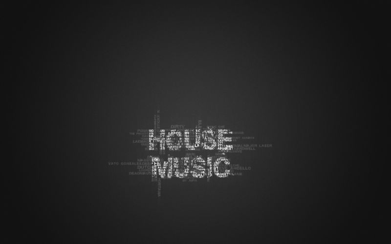 music typography wallpaper