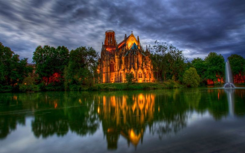 architecture lakes HDR photography wallpaper