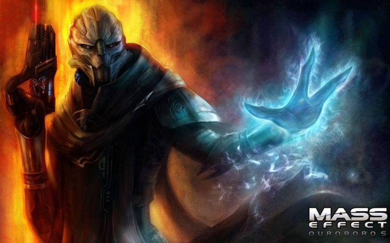 video games Mass Effect artwork ouroboros Turian wallpaper
