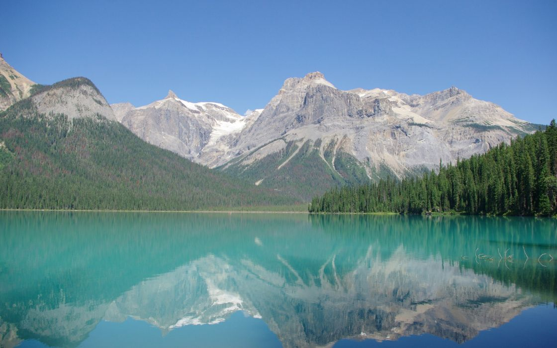 mountains landscapes nature Canada lakes reflections Rocky Mountains wallpaper