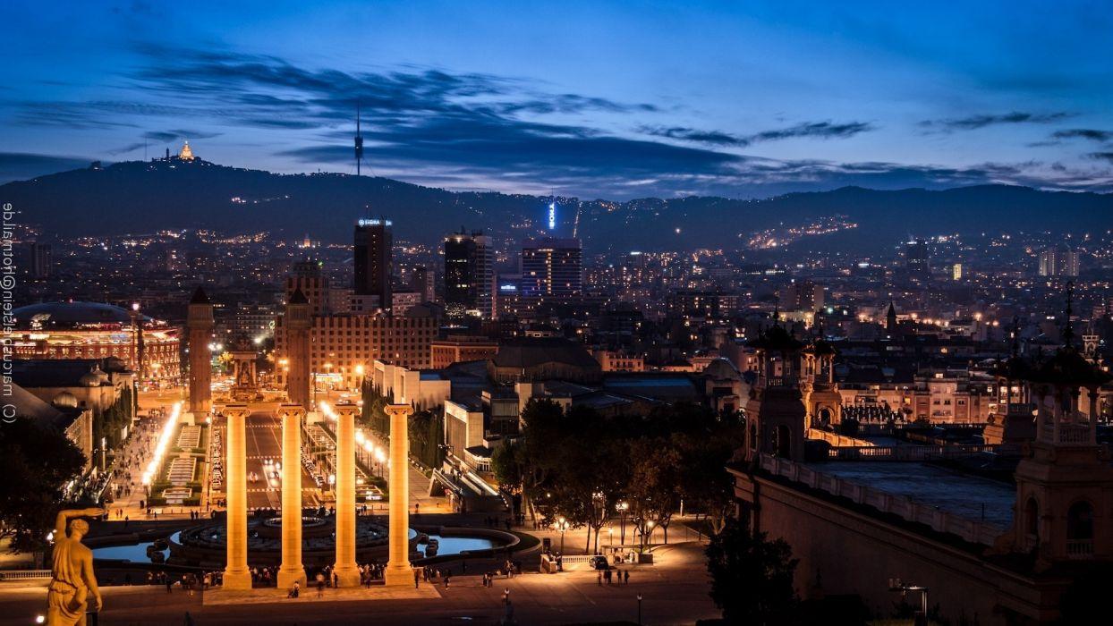 buildings traffic city lights night city wallpaper