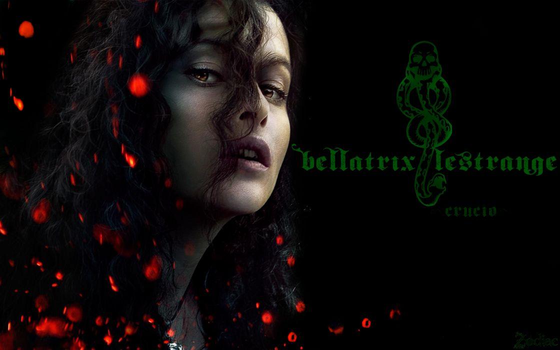 Harry Potter Bellatrix Lestrange Death Eaters wallpaper