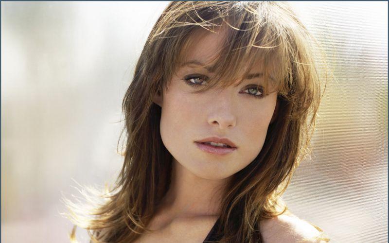 brunettes women actress models Olivia Wilde faces wallpaper