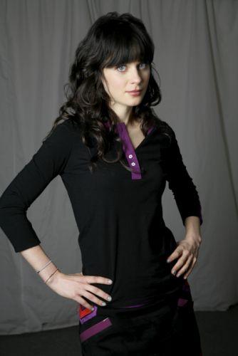 brunettes women Zooey Deschanel black dress wallpaper