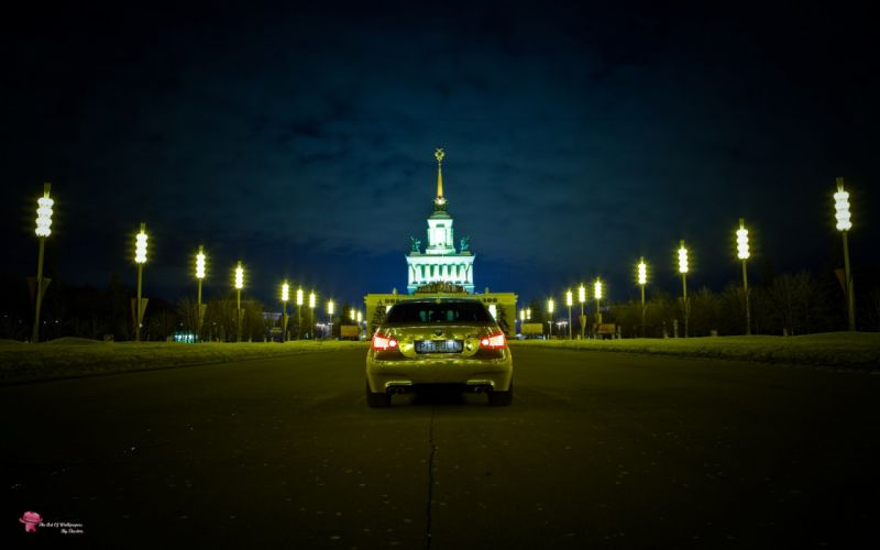 BMW cars Russia gold vehicles BMW 5 Series BMW E60 German cars smotra wallpaper