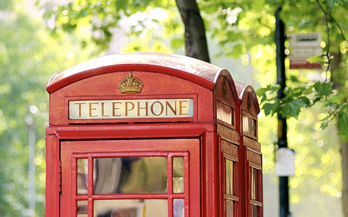 phone booth English Telephone Booth wallpaper