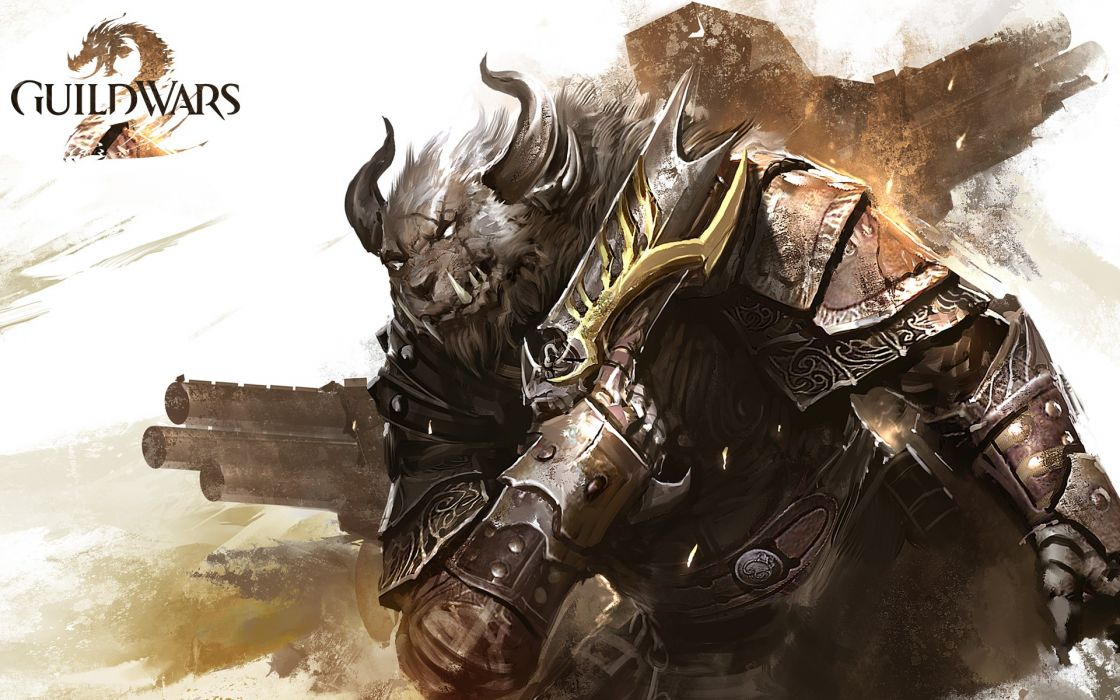 video games artwork MMORPG Guild Wars 2 wallpaper