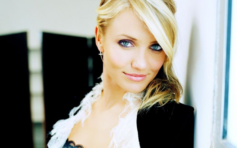 blondes women models green eyes Cameron Diaz faces wallpaper