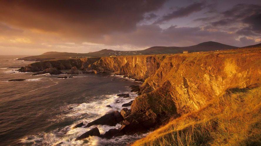 sunset head Ireland wallpaper
