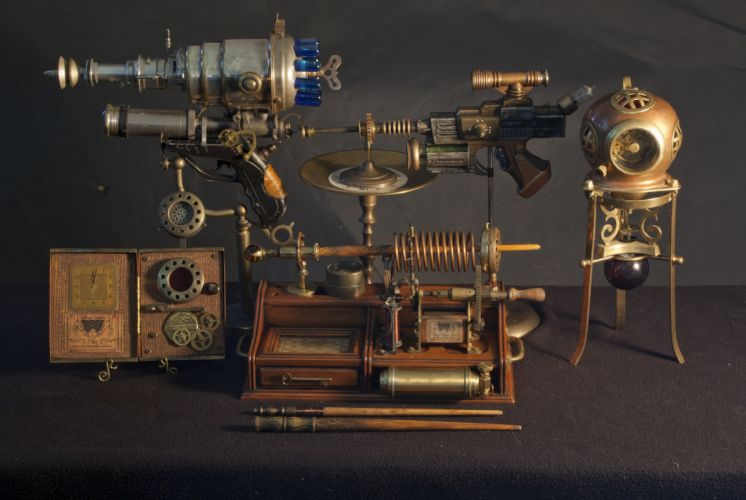 steampunk mechanical f wallpaper