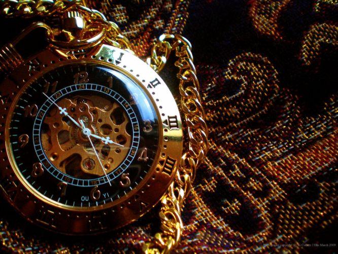steampunk mechanical clock watch bokeh wallpaper