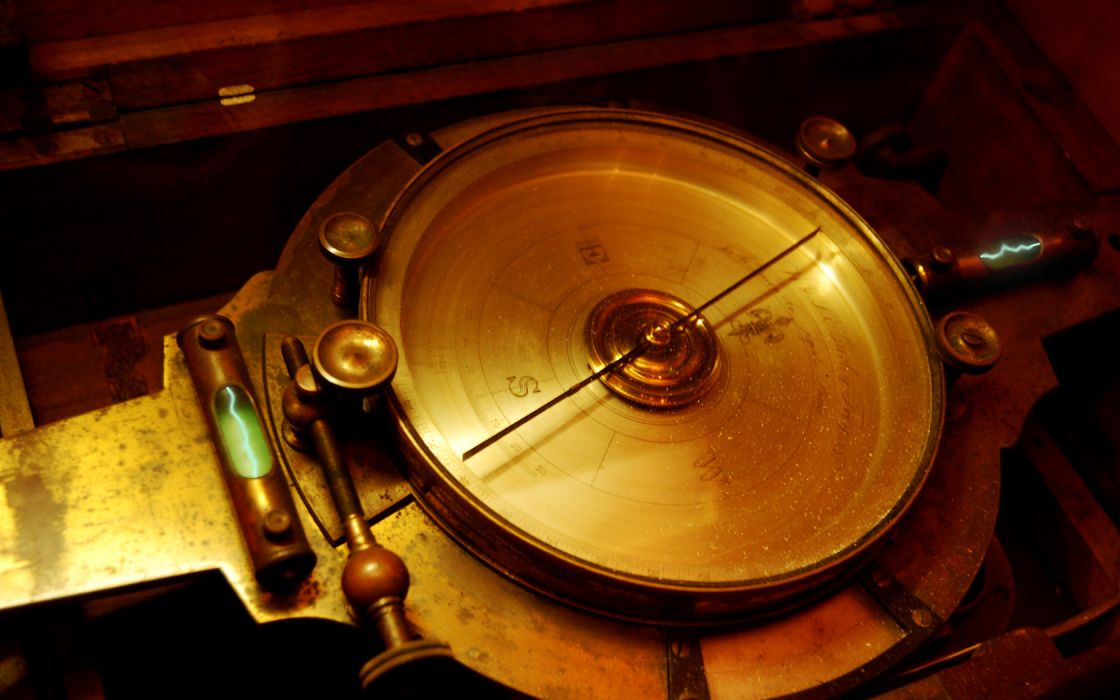 steampunk mechanical compass wallpaper