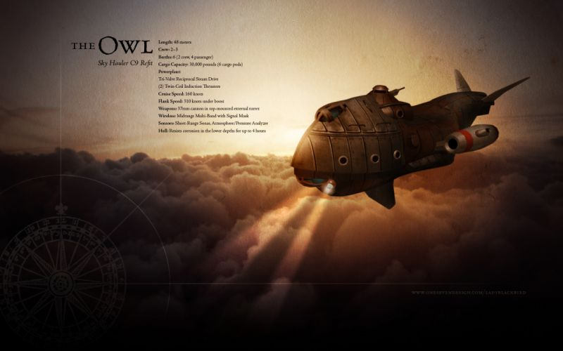 steampunk mechanical fkight spaceship spacecraft ships sky clouds text wallpaper