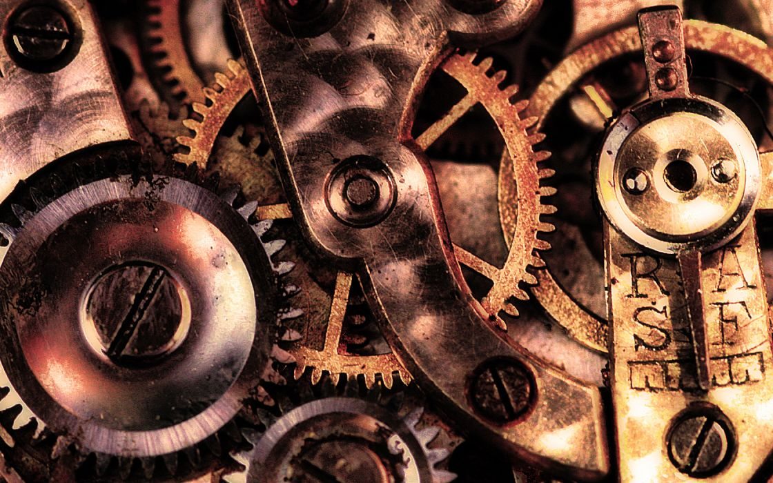 steampunk mechanical gears         c wallpaper