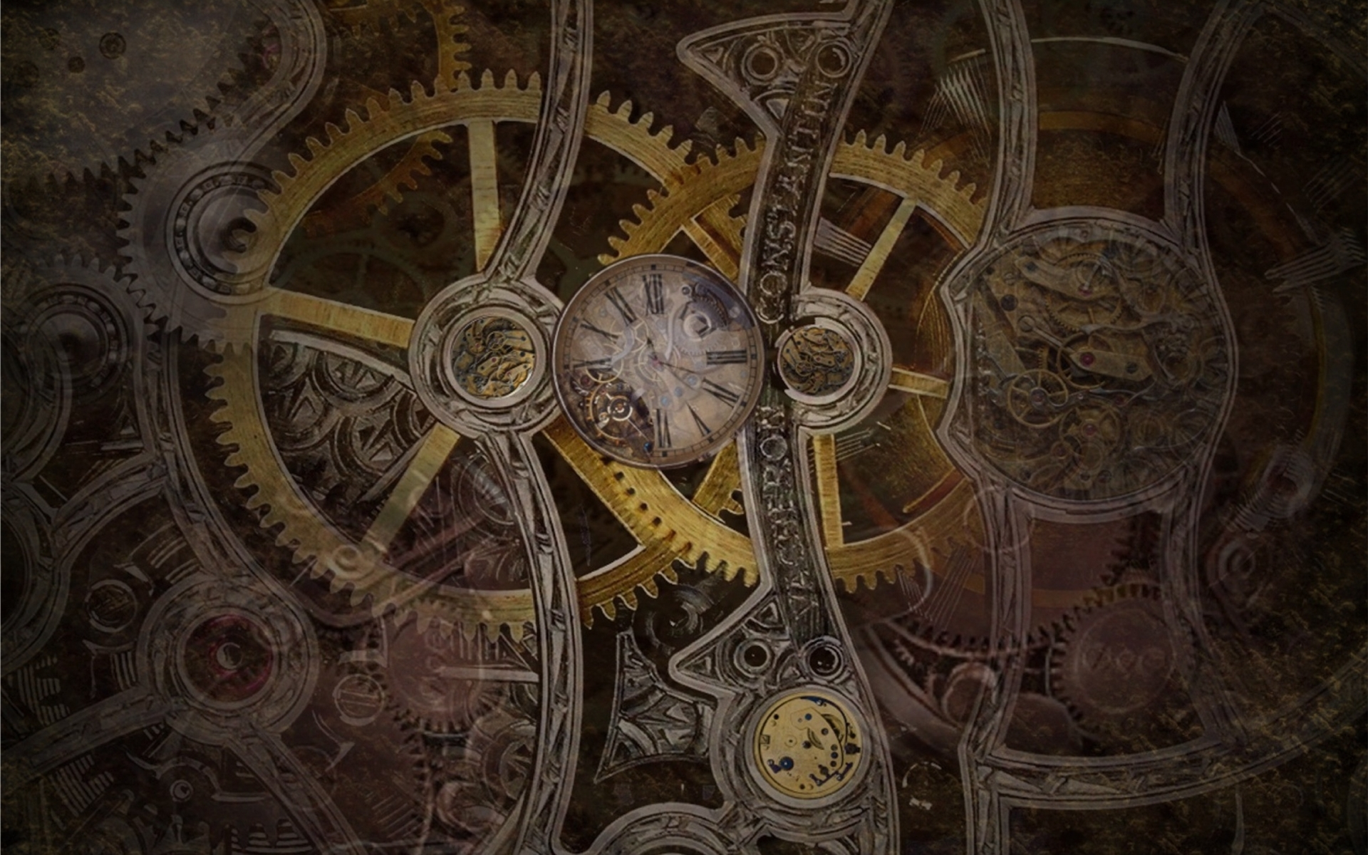 gears wallpaper clocks steampunk - photo #1