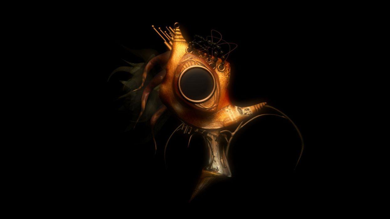 steampunk mechanical mask dark fantasy wallpaper