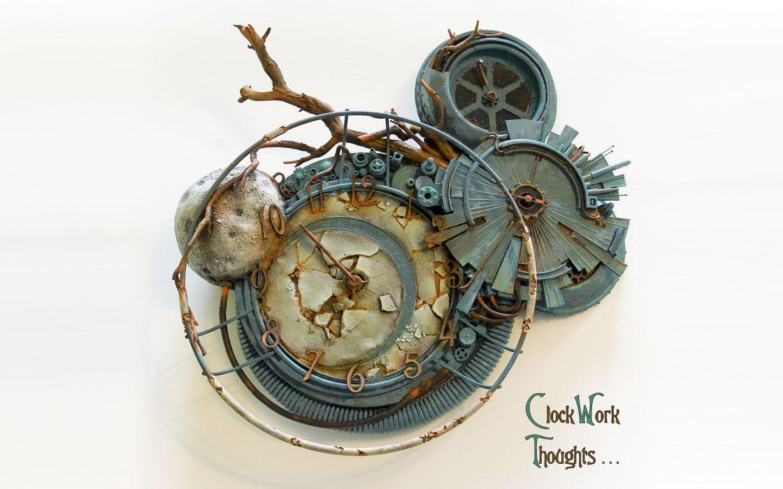 steampunk mechanical movies clockwork orange clock watch time wallpaper