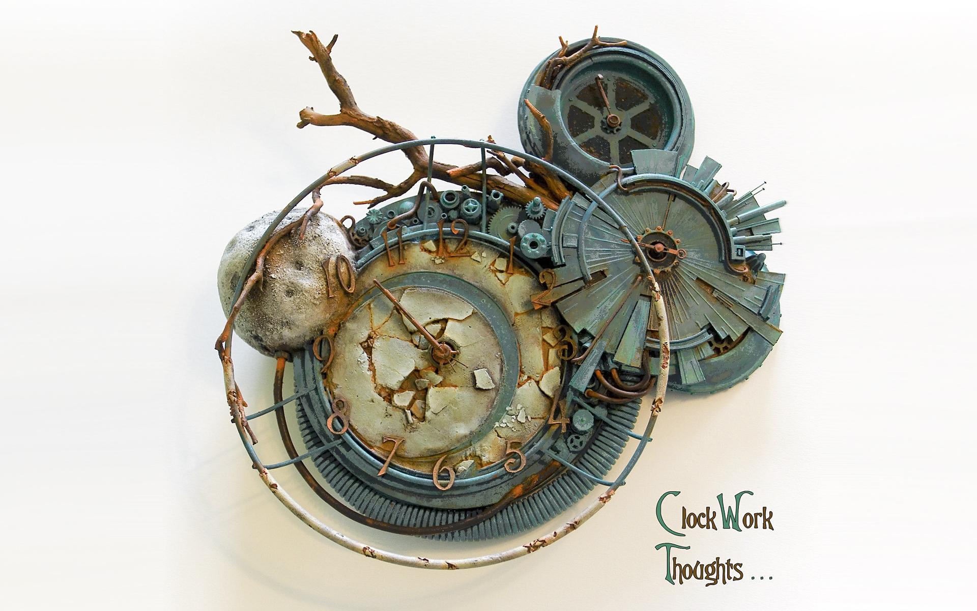 steampunk wallpaper clock - photo #4