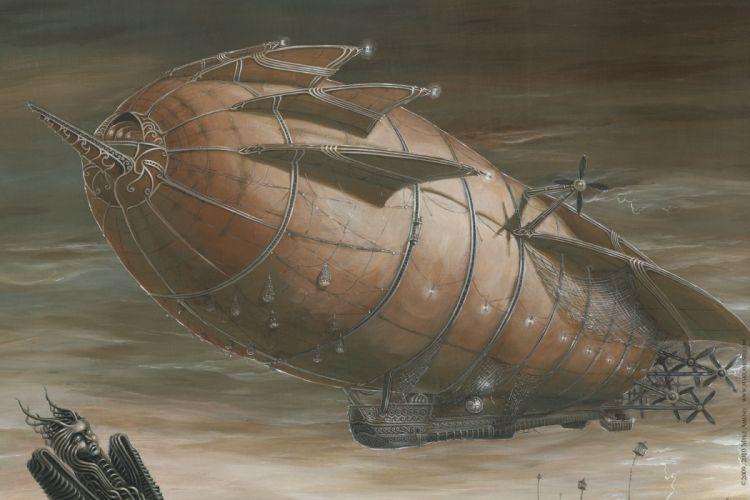 steampunk mechanical ships aircrafts airplane flight s wallpaper