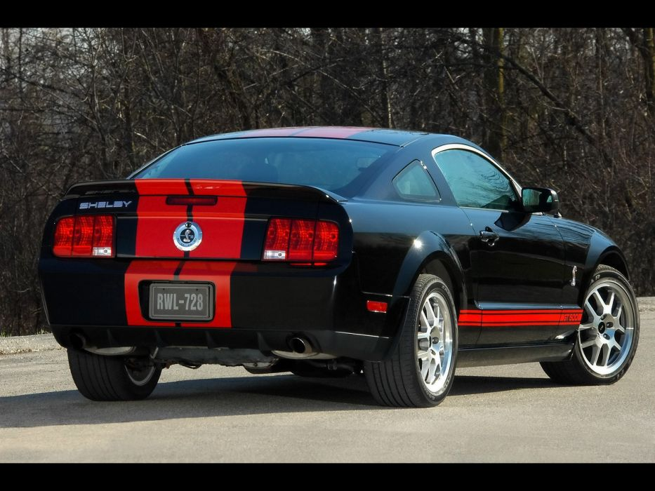 black muscle cars Ford Shelby stripes Ford Mustang Shelby GT500 wallpaper