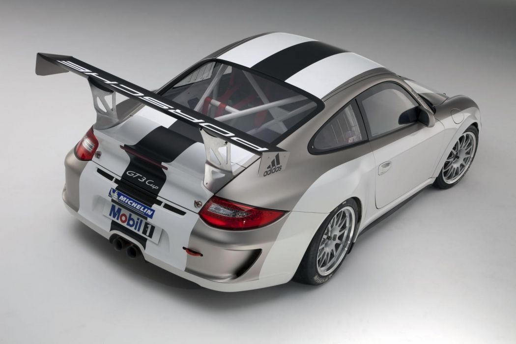 cars vehicles supercars Porsche 911 Porsche 911 (997) GT3 Cup rear angle view wallpaper