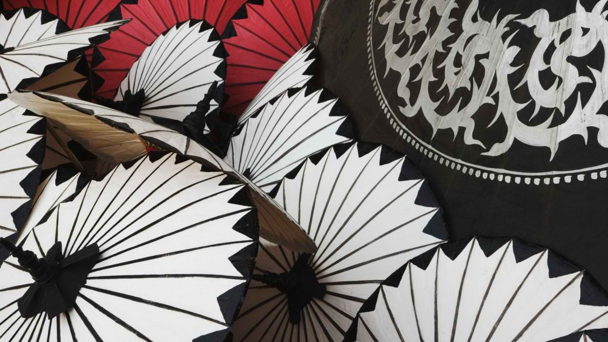 Thailand Mai umbrellas wallpaper