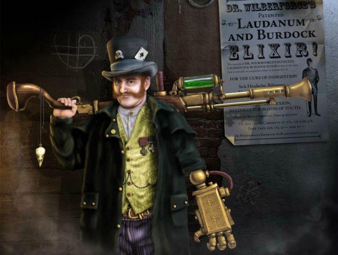 steampunk mechanical weapons guns e wallpaper
