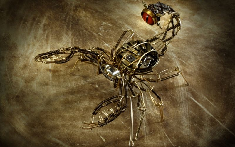 Steampunk Machine Scorpion mechanical wallpaper