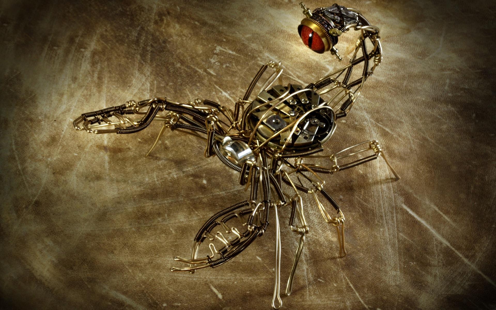 Steampunk Machine Scorpion Mechanical Wallpaper 1920x1200 62476 Wallpaperup