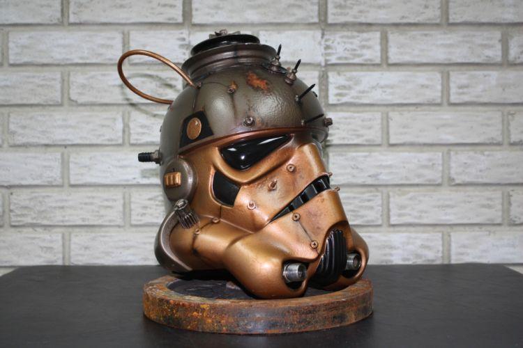 Steampunk Star Wars Helmet Stormtrooper wallpaper