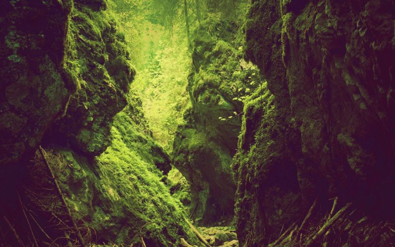 green mountains landscapes nature trees rocks wallpaper