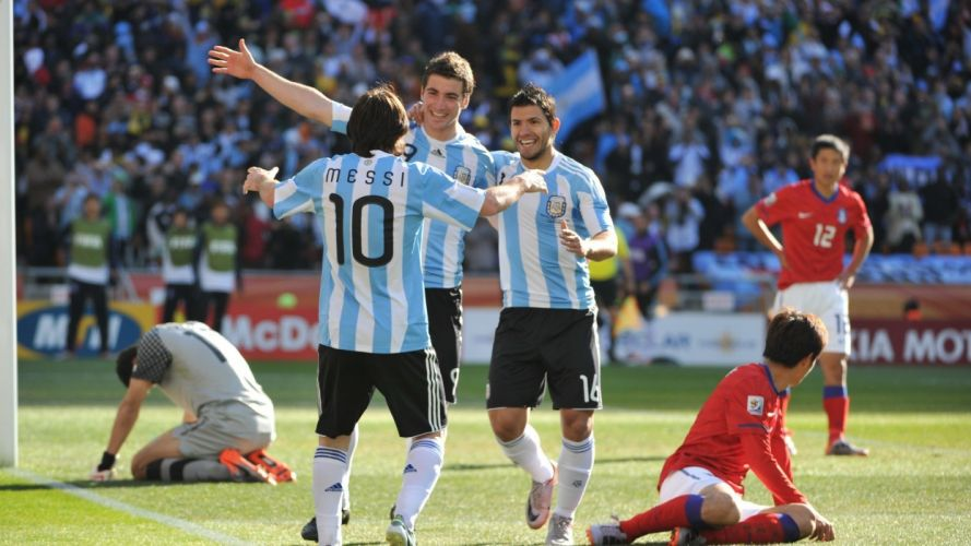 Argentina Lionel Messi Fifa World Cup Argentina National Football Team South Korea Sergio Aguero Gonzalo Higuain wallpaper