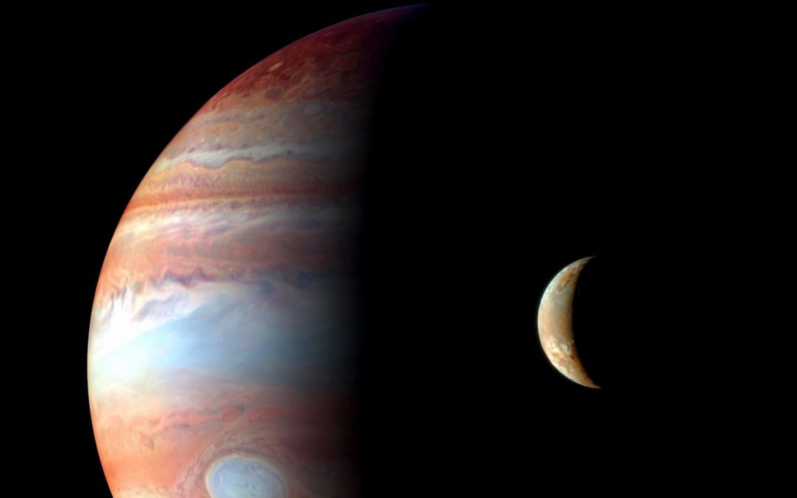 outer space planets Moon Jupiter wallpaper