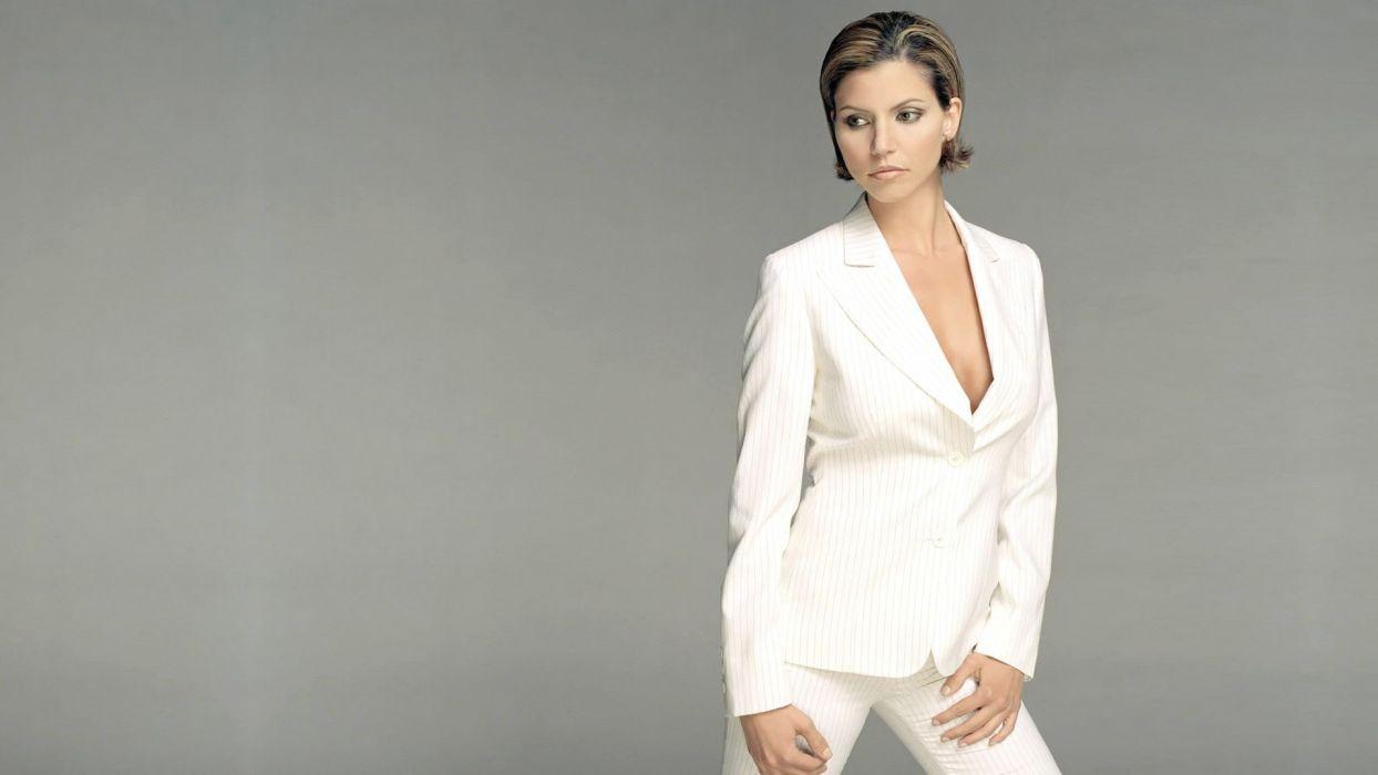 women suit cleavage Charisma Carpenter no bra wallpaper