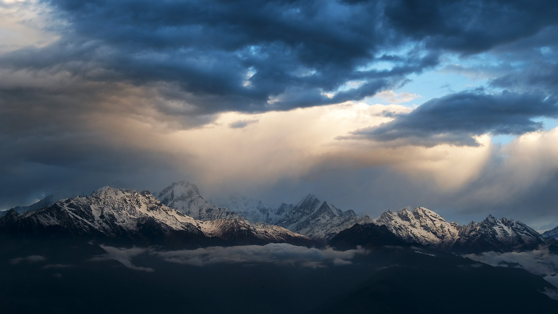 Sunrise mountains nepal himalaya wallpaper 1920x1080 - Himalaya pictures wallpaper ...