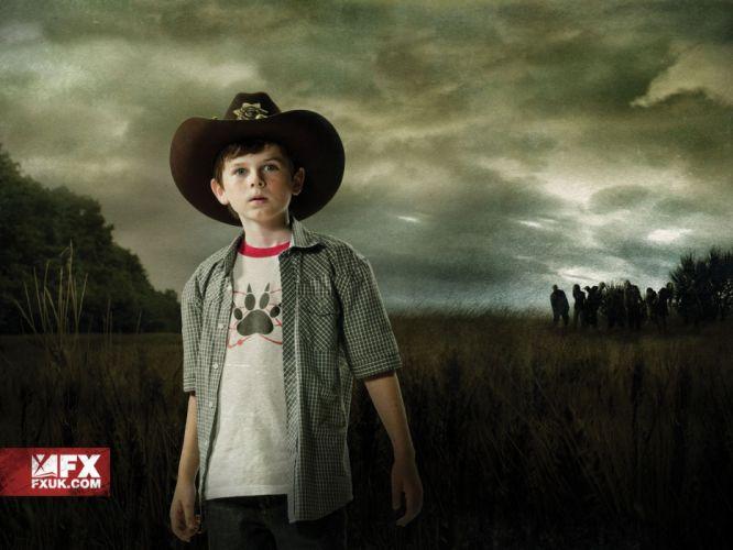 Walking Dead The Walking Dead TV series Grimes carl zombie apocalypse Chandler Riggs wallpaper