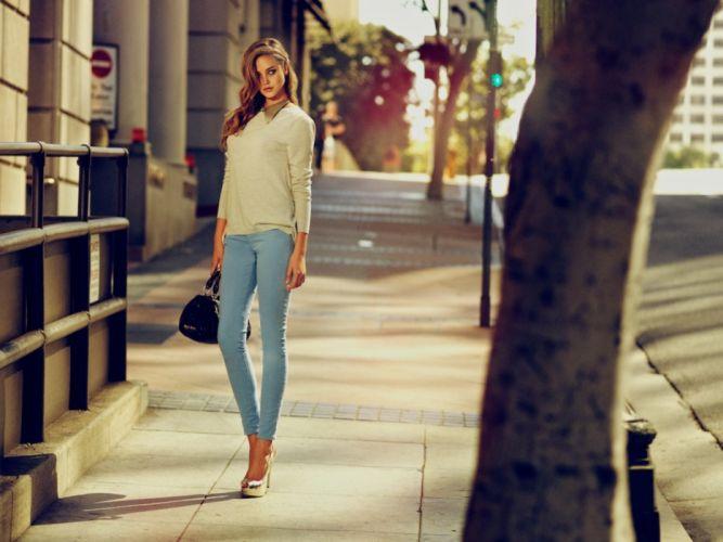 brunettes blondes women models wallpaper