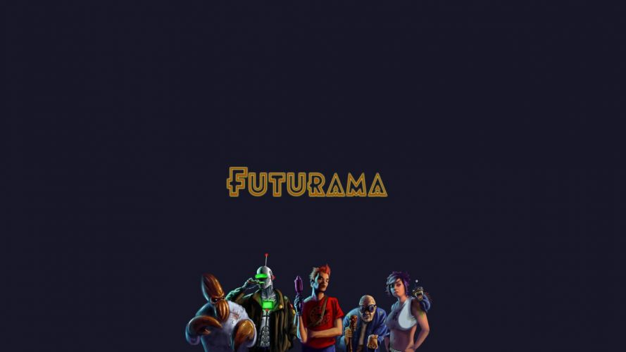 Futurama Bender Dr Zoidberg alternative art alternate Professor Farnsworth Turanga Leela Philip J_ Fry wallpaper