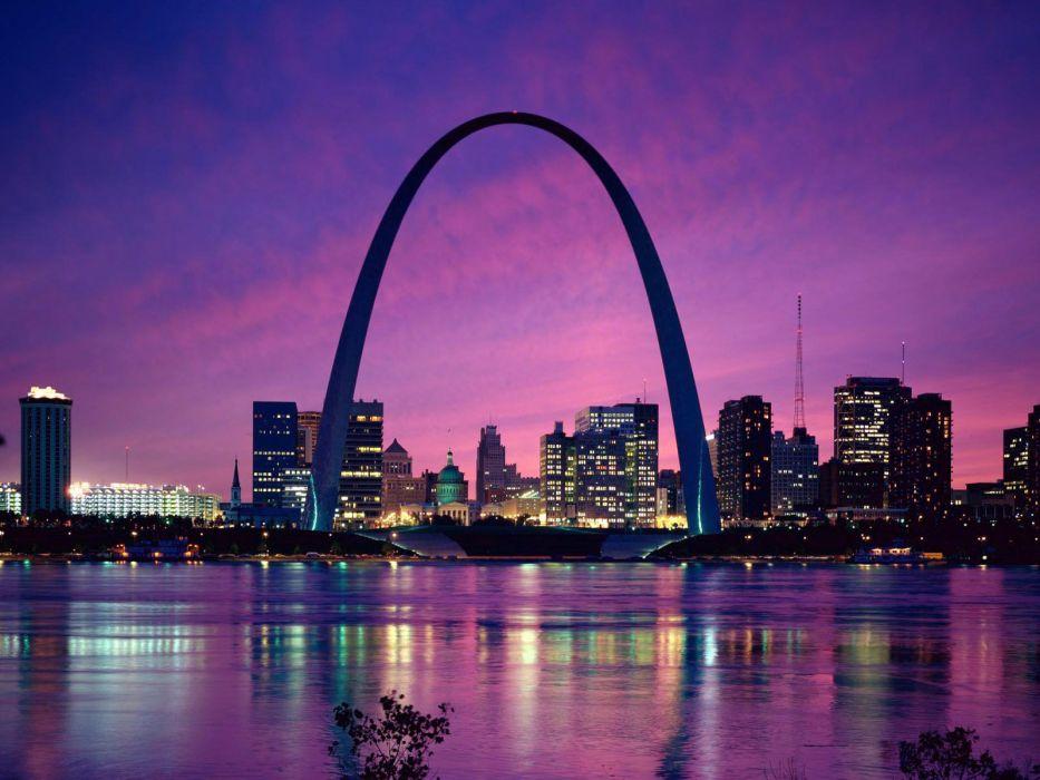 cityscapes architecture buildings St_ Louis Arch St_ Louis wallpaper