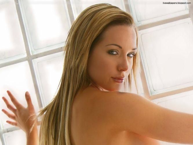 blondes women blue eyes Emily Scott wallpaper