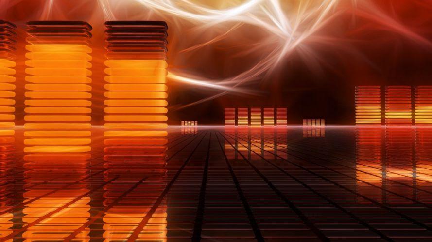 abstract music 3D render wallpaper
