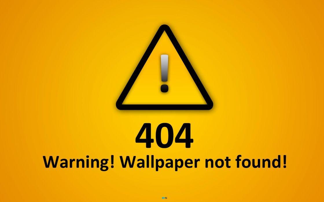 minimalistic text error not found wallpaper
